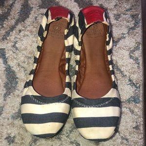 Lucky Brand Striped Erin  Ballet Flats Size 7.5